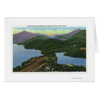 Aerial View of Both Lake Placid & Mirror Lake Card