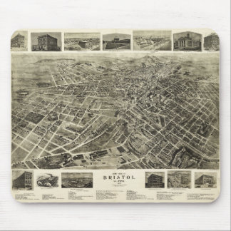 Aerial View of Bristol, Virginia/Tennessee (1912) Mouse Pad