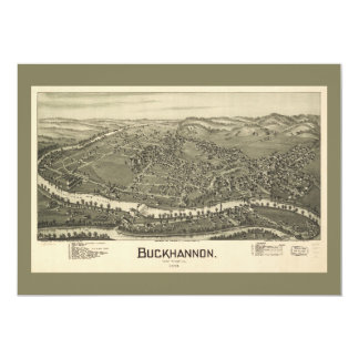 Aerial View of Buckhannon, West Virginia (1900) Card