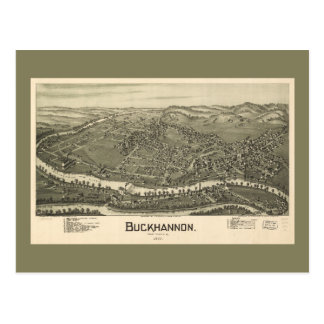 Aerial View of Buckhannon, West Virginia (1900) Postcard