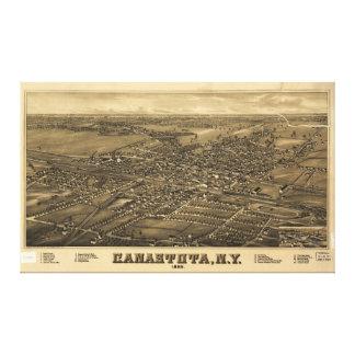 Aerial View of Canastota, New York (1885) Canvas Print