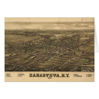 Aerial View of Canastota, New York (1885) Card