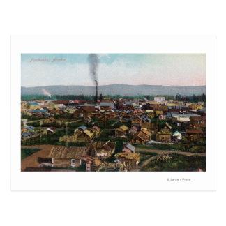 Aerial View of CityFairbanks, AK Postcard