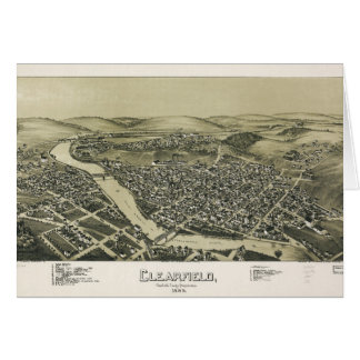 Aerial View of Clearfield, Pennsylvania (1895) Card