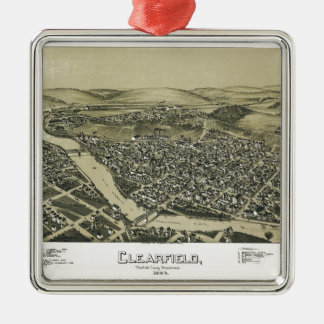 Aerial View of Clearfield, Pennsylvania (1895) Metal Ornament