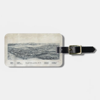 Aerial View of Cleveland, New York (1890) Luggage Tag