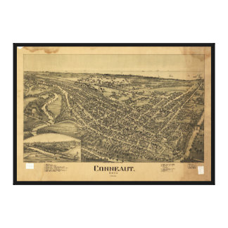 Aerial View of Conneaut, Ohio (1896) Canvas Print