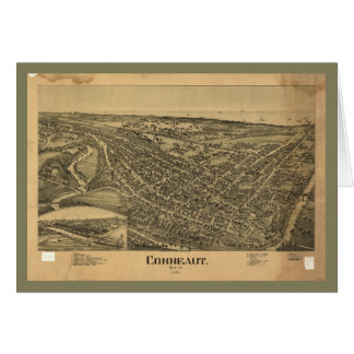 Aerial View of Conneaut, Ohio (1896) Card