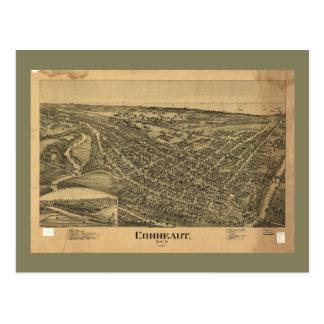 Aerial View of Conneaut, Ohio (1896) Postcard