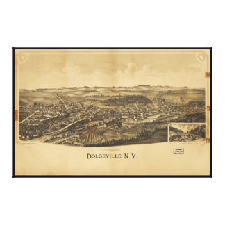 Aerial View of Dolgeville, New York (1890) Canvas Print