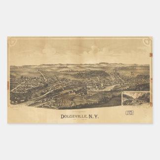 Aerial View of Dolgeville, New York (1890) Rectangular Sticker