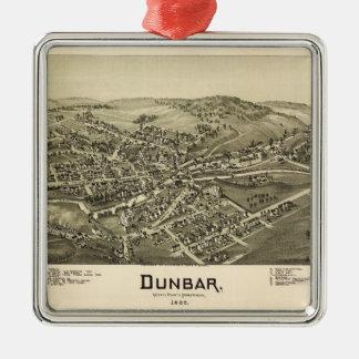 Aerial View of Dunbar, Pennsylvania (1900) Metal Ornament