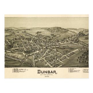 Aerial View of Dunbar, Pennsylvania (1900) Postcard