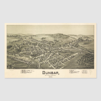 Aerial View of Dunbar, Pennsylvania (1900) Rectangular Sticker