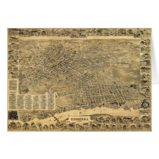 Aerial View of Elizabeth, New Jersey (1898) Card