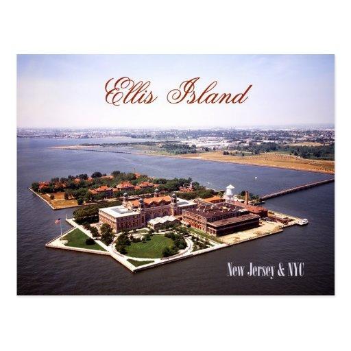 Aerial view of Ellis Island, NJ & NY Postcards