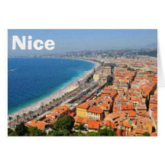 Aerial view of French Riviera in Nice, France Card