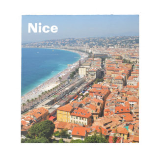 Aerial view of French Riviera in Nice, France Notepad