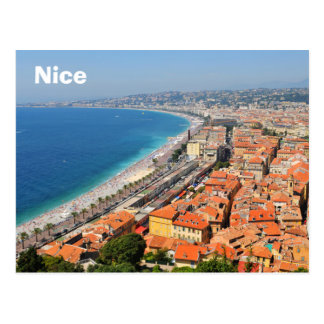 Aerial view of French Riviera in Nice, France Postcard