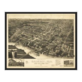 Aerial View of Gadsden, Alabama (1887) Canvas Print