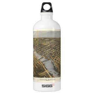 Aerial View of Grand Rapids, Michigan (1868) Water Bottle