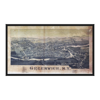 Aerial View of Greenwich, New York (1885) Canvas Print