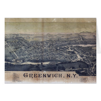 Aerial View of Greenwich, New York (1885) Card
