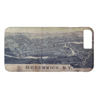 Aerial View of Greenwich, New York (1885) iPhone 8 Plus/7 Plus Case