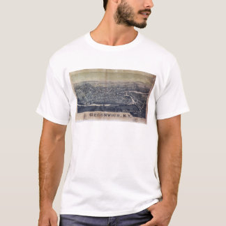 Aerial View of Greenwich, New York (1885) T-Shirt
