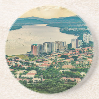Aerial View of Guayaquil Outskirt from Plane Coaster