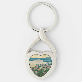 Aerial View of Guayaquil Outskirt from Plane Key Ring