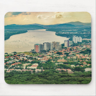 Aerial View of Guayaquil Outskirt from Plane Mouse Pad
