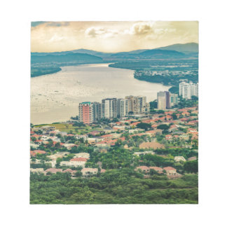 Aerial View of Guayaquil Outskirt from Plane Notepad