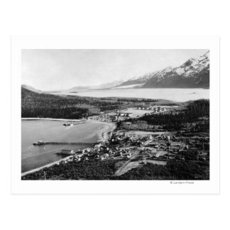 Aerial view of Haines, Alaska location of Postcard
