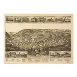 Aerial View of Harriman, Tennessee (1892) Card