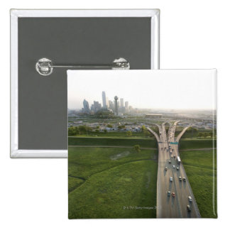 Aerial view of highway in Dallas, Texas Pin