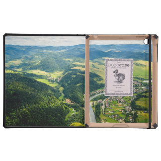 Aerial View Of Hills Landscape With River iPad Folio Cover