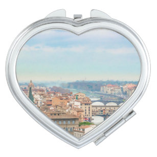 Aerial View of Historic Centre of Florence Italy Makeup Mirror