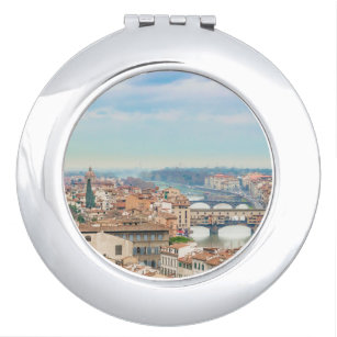 Aerial View of Historic Centre of Florence Italy Travel Mirror