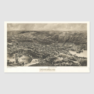 Aerial View of Hopedale, Massachusetts (1899) Rectangular Sticker