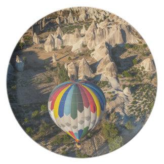 Aerial View Of Hot Air Balloons, Cappadocia Plate