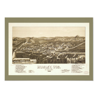 Aerial View of Hurley, Wisconsin (1886) Card