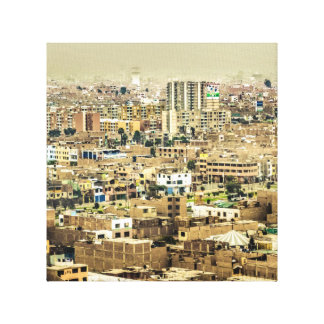 Aerial View of Lima Outskirts, Peru Canvas Print