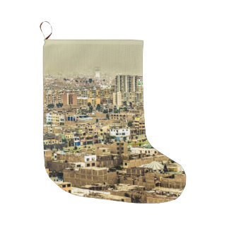Aerial View of Lima Outskirts, Peru Large Christmas Stocking