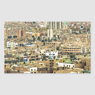 Aerial View of Lima Outskirts, Peru Rectangular Sticker