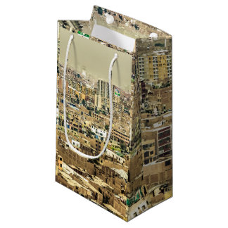 Aerial View of Lima Outskirts, Peru Small Gift Bag