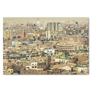 Aerial View of Lima Outskirts, Peru Tissue Paper