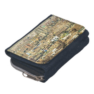 Aerial View of Lima Outskirts, Peru Wallet