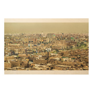 Aerial View of Lima Outskirts, Peru Wood Wall Decor