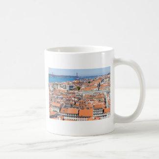 Aerial view of Lisbon, Portugal Coffee Mug